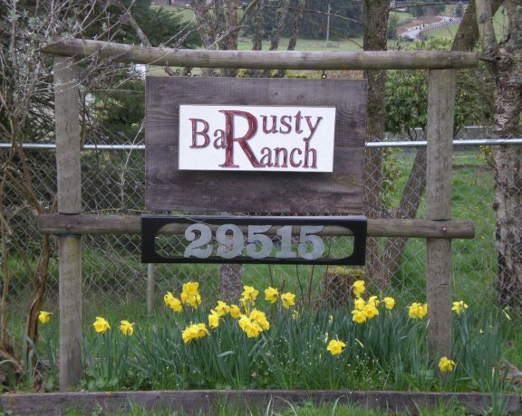 Rusty Bar Ranch sign